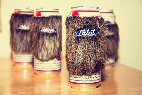 Bearded Pabst Blue Ribbon PBR Beer Cans